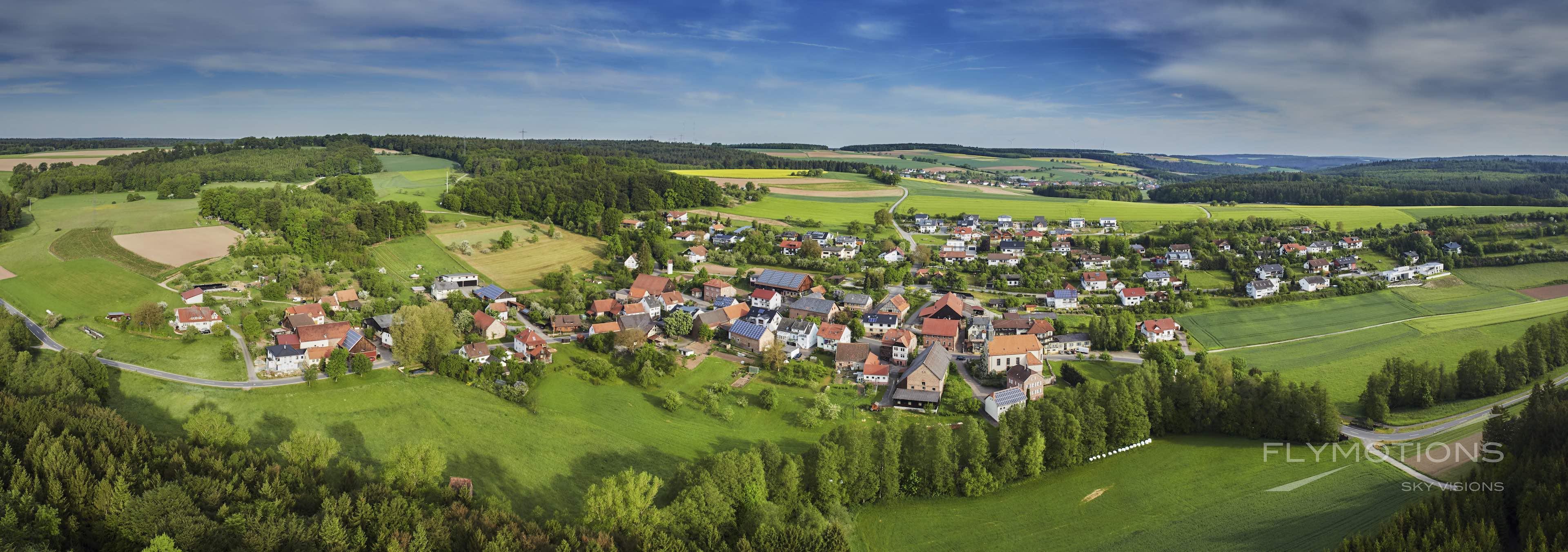 Buchen-Hollerbach im Odenwald, Panorama Luftbild